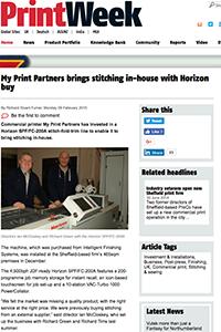 Printweek Myprint Parters articel