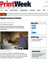Printweek Horizon CRF-362 creaser-folder